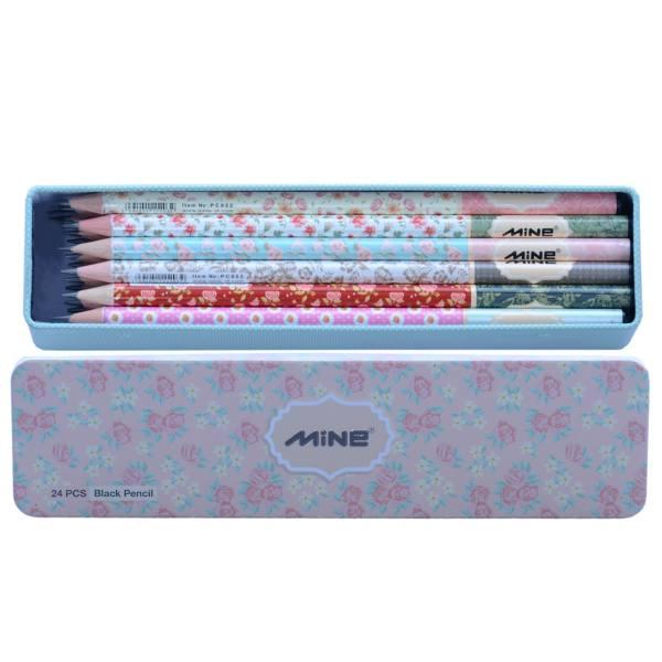 مداد مشکی ماین بسته 24 عددی