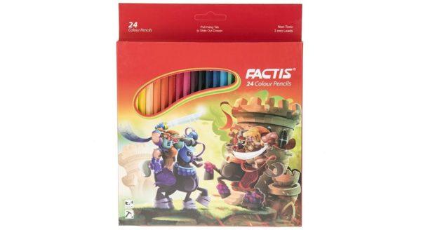 مداد رنگی جعبه مقوایی فکتیس