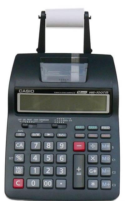 ماشینحساب کاسیو چاپگر مدل HR-100TM