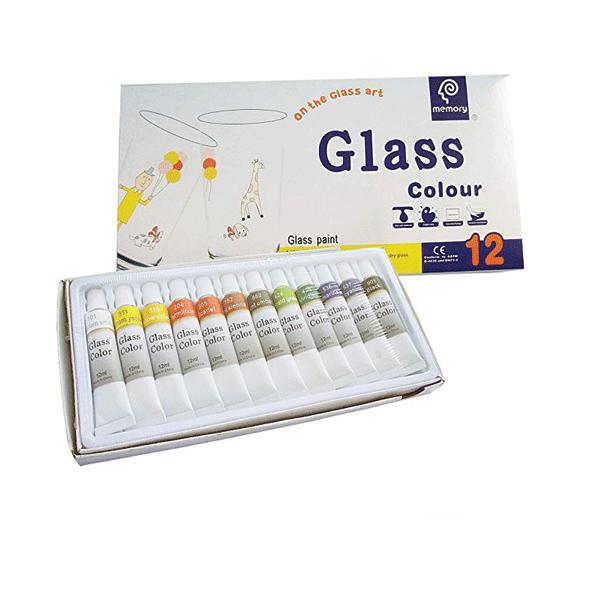 رنگ شیشه 12 رنگ مموری